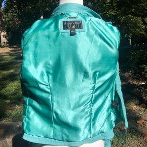 Bernardo Jackets & Coats - 🎈NEW LISTING! Bernardo Teal Leather Jacket Size M